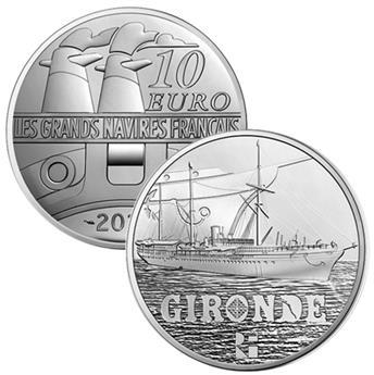 10 EUROS ARGENT - FRANCE - LA GIRONDE