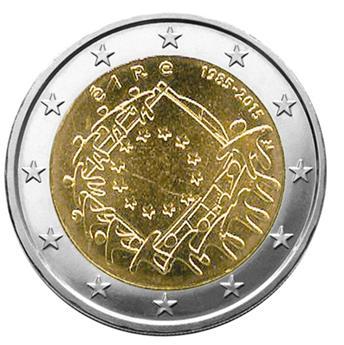 2 EURO COMMEMORATIVE 2015 : IRLANDE (30e anniversaire du drapeau européen)