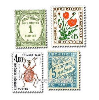 FRANÇA TAXA: lote de 50 selos