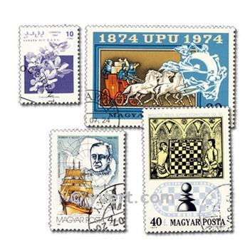 MONDE ENTIER : pochette de 5000 timbres