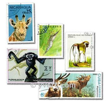 ANIMALES: lote de 300 sellos