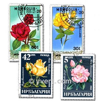 FLORA: envelope of 300 stamps