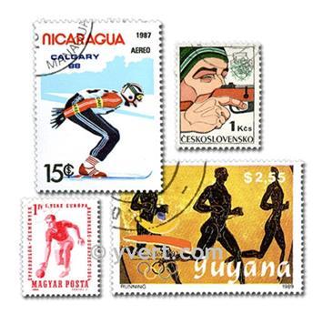 SPORTS : pochette de 500 timbres