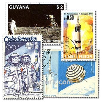 ASTRONAUTIQUE : pochette de 1000 timbres