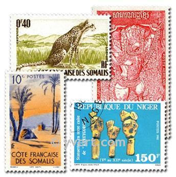 COMUNIDADE FRANCESA: lote de 3000 selos
