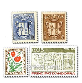 ANDORRA: envelope of 50 stamps