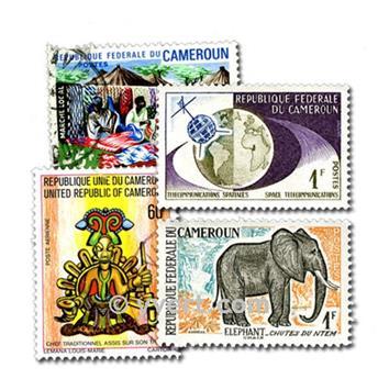 CAMERÚN: lote de 50 sellos