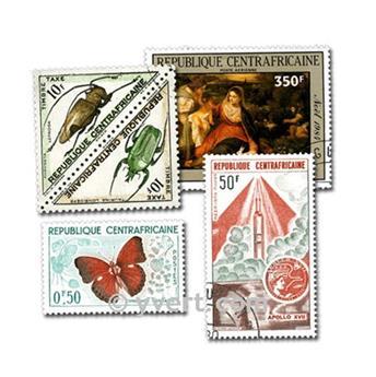 REPÚBLICA CENTROAFRICANA: lote de 200 sellos