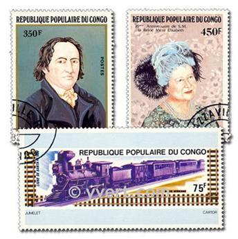 CONGO : pochette de 100 timbres