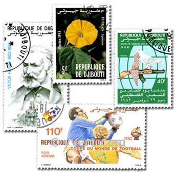 DJIBOUTI : pochette de 50 timbres