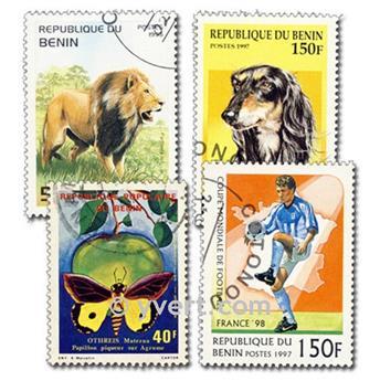 BENÍN: lote de 100 sellos
