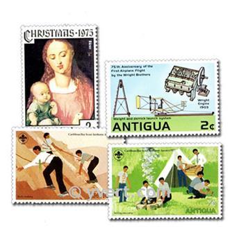 ANTIGUA ET BARBUDA : pochette de 50 timbres