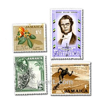 JAMAICA: envelope of 25 stamps