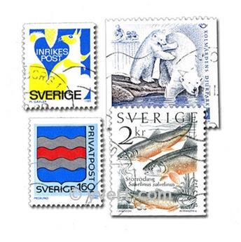SUECIA: lote de 300 sellos