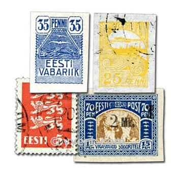 ESTONIE : pochette de 25 timbres