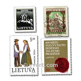LITUÂNIA: lote de 25 selos