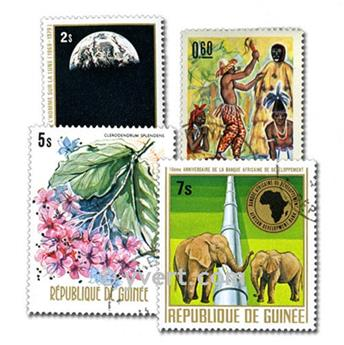 GUINEA: envelope of 200 stamps