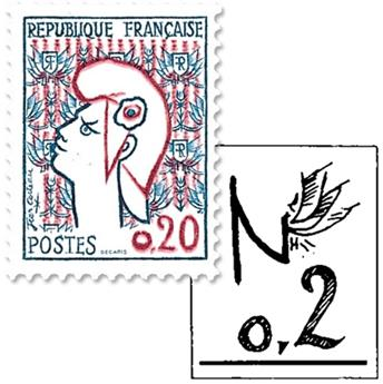 n° 1282a -  Timbre France Poste