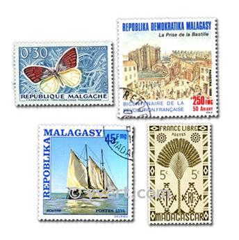 MADAGÁSCAR: lote de 300 selos
