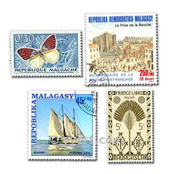 MADAGASCAR: lote de 300 sellos