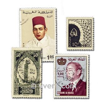 MARRUECOS: lote de 200 sellos