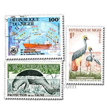 NÍGER: lote de 200 sellos
