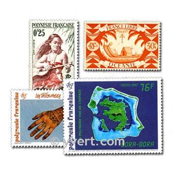 OCEÂNIA POLINÉSIA: lote de 50 selos