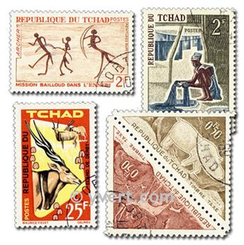 CHAD: envelope of 200 stamps