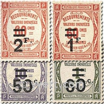 n° 51/54 -  Selo França Taxa
