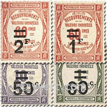 n.o 51 / 54 -  Sello Francia Tasa