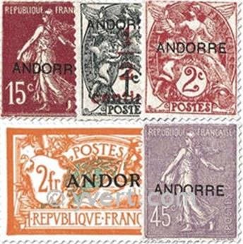 n° 1/23 -  Timbre Andorre Poste