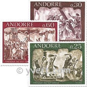 n° 191/193 -  Timbre Andorre Poste