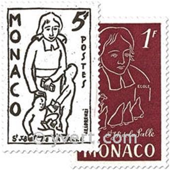 n° 402/404 -  Selo Mónaco Correios