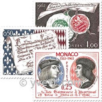 n° 576/578 -  Selo Mónaco Correios