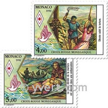 n.o 1720/1721 -  Sello Mónaco Correos