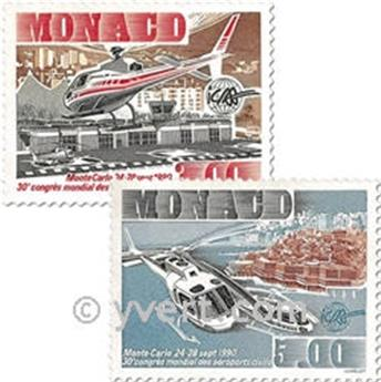 n° 1736/1737 -  Timbre Monaco Poste