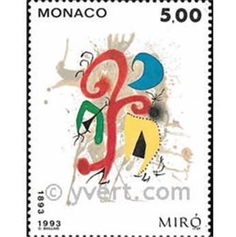 n° 1909 -  Timbre Monaco Poste