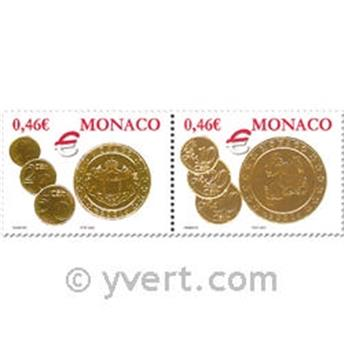 n° 2356/2357 -  Selo Mónaco Correios