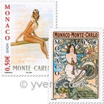 n.o 2393/2394 -  Sello Mónaco Correos