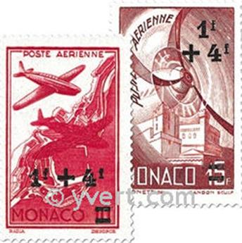 n.o 8 / 12 -  Sello Mónaco Correo aéreo