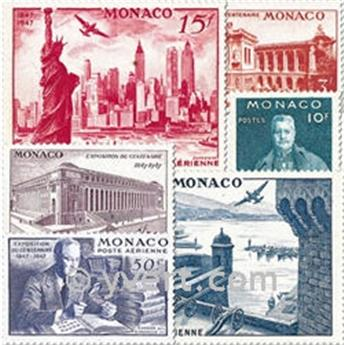 nr. 22/27 -  Stamp Monaco Air Mail