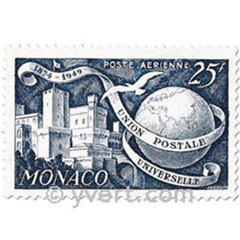 n° 45/48 -  Selo Mónaco Correio aéreo