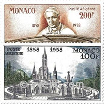 n° 69/70 -  Selo Mónaco Correio aéreo