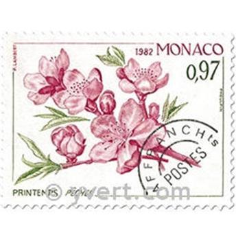 n° 74/77 -  Selo Mónaco Pré-obliterados
