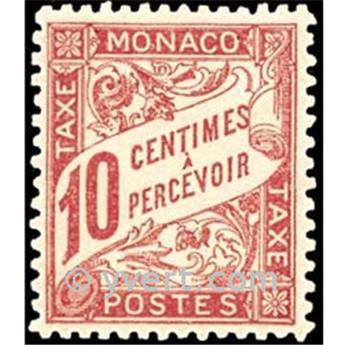 n° 3 -  Selo Mónaco Taxa