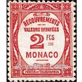 n° 28 -  Selo Mónaco Taxa