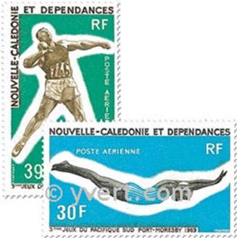 n° 106/107 -  Timbre Nelle-Calédonie Poste aérienne
