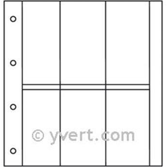 Recambios ÁLBUM TARJETAS POSTALES LUXE: 6 compartimentos verticales