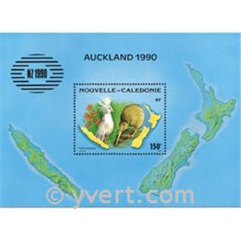 n.o 10 -  Sello Nueva Caledonia Bloque y hojitas