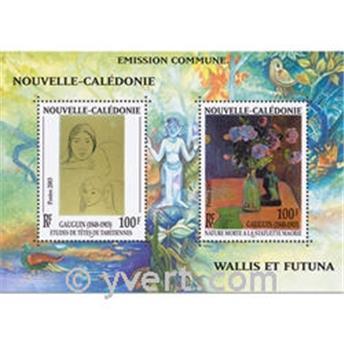 n.o 28 -  Sello Nueva Caledonia Bloque y hojitas